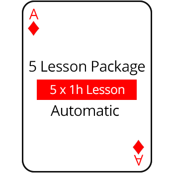 5 Lesson Package Auto